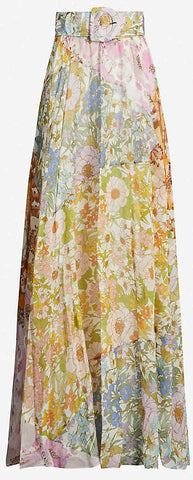 'Super Eight' Belted Floral Maxi Skirt | DESIGNER INSPIRED FASHIONS