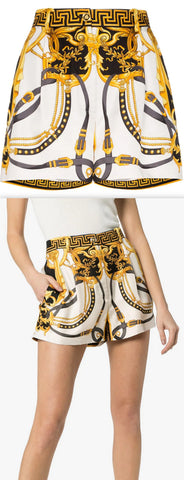 'Baroque' Print Shorts