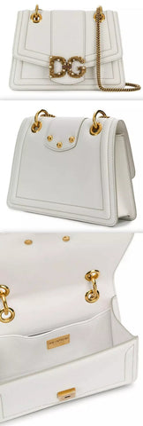 Amore Leather Shoulder Bag, White | DESIGNER INSPIRED FASHIONS