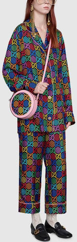 GG Psychedelic Print Pajama Shirt and Pant Set