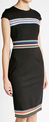 Striped Detail Dress, Black | DESIGNER INSPIRED FASHIONS