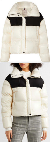 Hooded Two-Tone Quilted Shell and Jersey Down Jacket | DESIGNER INSPIRED FASHIONS