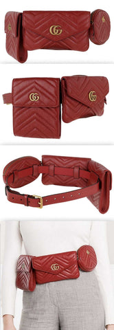 GG Marmont Multi Belt Bag, Red