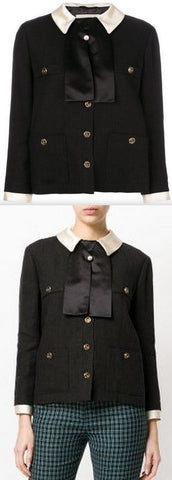 Black Boxy Fit Jacket