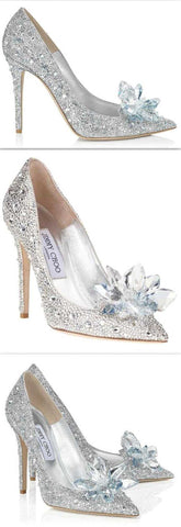 'Cinderella' Inspired Crystal Covered Pointy Toe Pump - DESIGNER INSPIRED FASHIONS