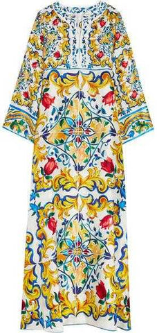 'Carretto' Printed Kaftan Maxi Dress - DESIGNER INSPIRED FASHIONS