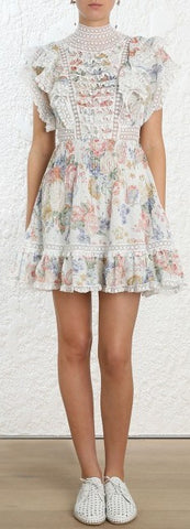 'Bowie' Frill Mini Dress