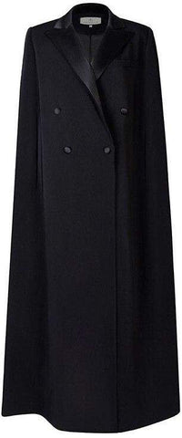 Long Black Cloak Coat