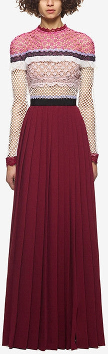 'Bellis' Lace Trim Maxi Dress