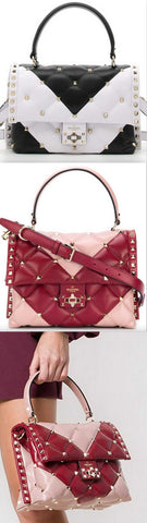 'Candystud' Bicolor tote - Black and White or Pink and Red