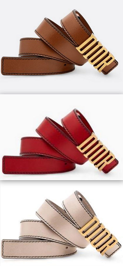 D-Fence Belt in Calfskin Leather | DESIGNER INSPIRED FASHIONS