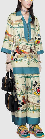 Disney X Printed Top and Pant Set | DESIGNER INSPIRED FASHIONS