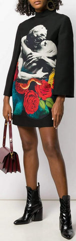 'Lovers' Print Dress | DESIGNER INSPIRED FASHIONS