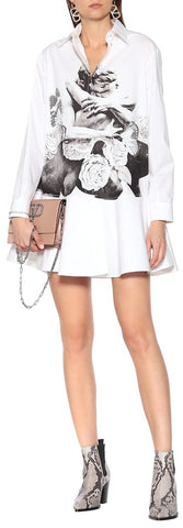 Printed Cotton Shirt-Dress | DESIGNER INSPIRED FASHIONS