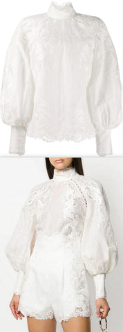 'Super Eight' Embroidered Blouse | DESIGNER INSPIRED FASHIONS