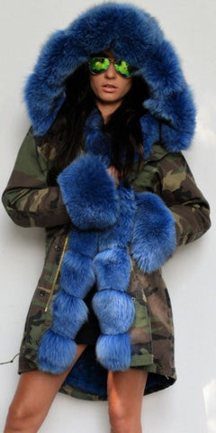 138e0460ea7f ... Army Parka Military Camouflage Parka Coat with Fox Fur-Blue - DESIGNER  INSPIRED FASHIONS ...