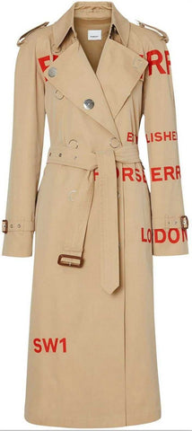 'Horseberry' Print Trench Coat | DESIGNER INSPIRED FASHIONS