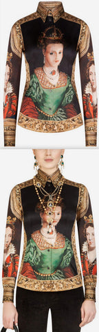 Queen-Print Shirt | DESIGNER INSPIRED FASHIONS