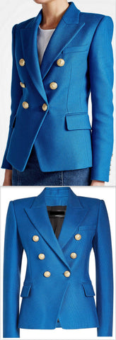 Double-Breasted Blazer, Blue