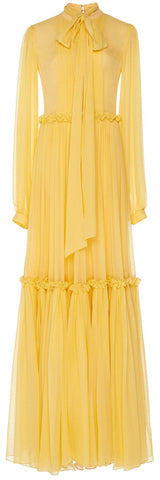Chiffon Tiered Dress With Frill Detail