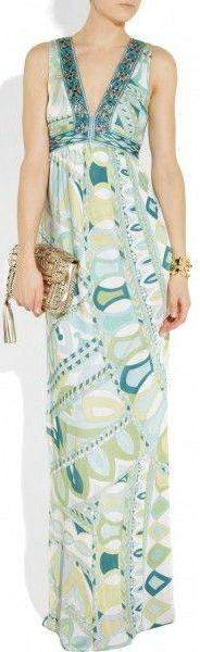 Geometric Printed Deep V-Neck Sleeveless Long Jersey Silk Maxi Dress - DESIGNER INSPIRED FASHIONS