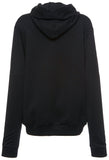 Beaded Detail Hooded Sweatshirt-Black - DESIGNER INSPIRED FASHIONS