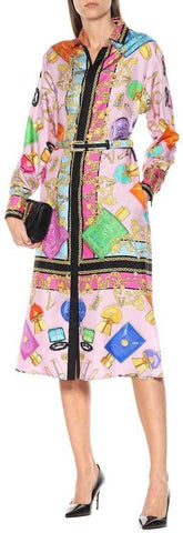 Printed Midi Shirt Dress | DESIGNER INSPIRED FASHIONS