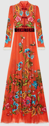 'Cemetery' Embroidered Maxi Dress - DESIGNER INSPIRED FASHIONS