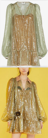 'Vichy' Sequin Dress
