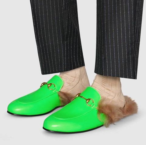 22d6a721255 ... Princetown Fluorescent Leather Slipper - Fluorescent Fuchsia or Fluorescent  Green