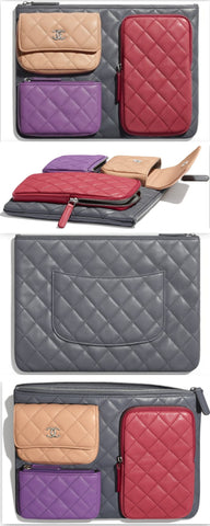 Lambskin & Silver-Tone Metal Pouch | DESIGNER INSPIRED FASHIONS