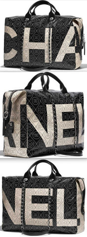 Printed Canvas Bowling Bag