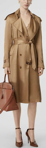 Silk Wrap Trench Coat | DESIGNER INSPIRED FASHIONS