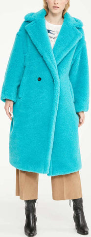 Teddy Icon Coat, Turquoise | DESIGNER INSPIRED FASHIONS