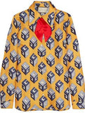 'GG' Wallpaper-Print Necktie Shirt - DESIGNER INSPIRED FASHIONS