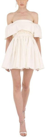 'Elodie' White Mini Dress