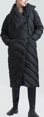 Asymmetric Thick Puffer Down Coat