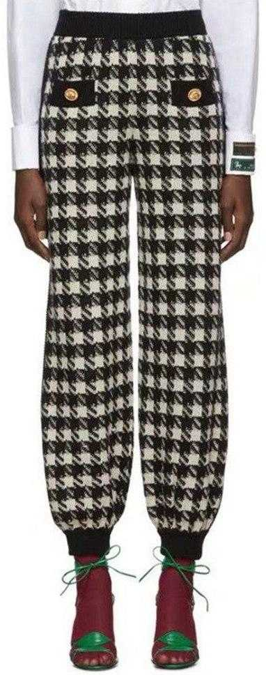 Houndstooth Track Bottoms | DESIGNER INSPIRED FASHIONS