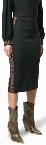 FF Logo Band Fitted Skirt | DESIGNER INSPIRED FASHIONS