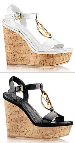 'Carioca' Wedge Sandals, White or Black - DESIGNER INSPIRED FASHIONS