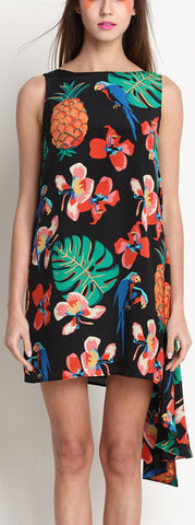 Tropical Print Dress - DESIGNER INSPIRED FASHIONS