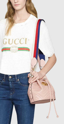 b5c50ec2f2b ... GG Marmont Quilted Leather Bucket Bag - Black or Pink - DESIGNER  INSPIRED FASHIONS