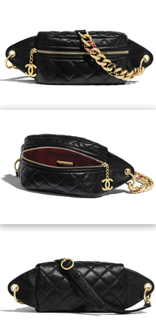 Lambskin & Gold-Tone Metal Waist Bag