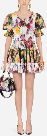 Printed Cotton Mini Dress | DESIGNER INSPIRED FASHIONS
