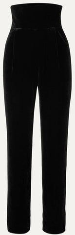 Velvet Straight-Leg Pants | DESIGNER INSPIRED FASHIONS