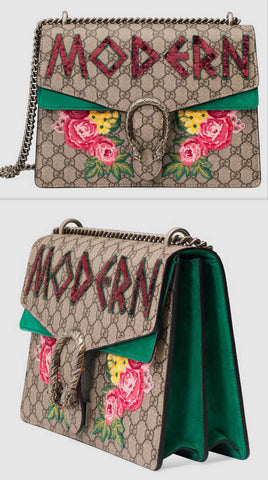 'Modern' Dionysus embroidered Shoulder Bag - DESIGNER INSPIRED FASHIONS