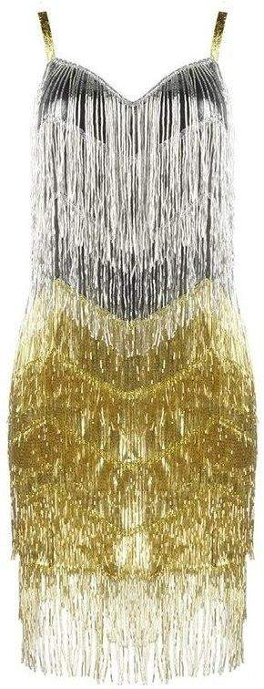 Beaded-Fringed Mini Cocktail Dress | DESIGNER INSPIRED FASHIONS