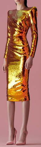 'Kelsey' Sequin Embellished Ruched Midi Dress | DESIGNER INSPIRED FASHIONS