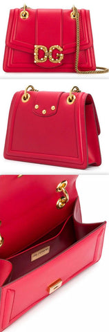 Amore Leather Shoulder Bag, Red | DESIGNER INSPIRED FASHIONS