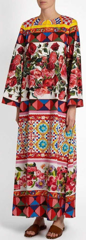 'Mambo' Print Kaftan Dress - DESIGNER INSPIRED FASHIONS